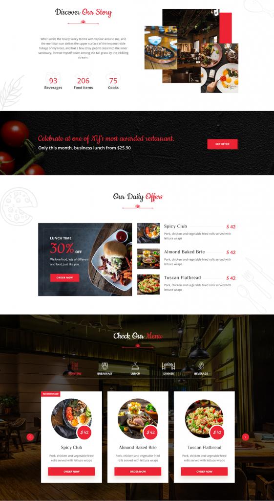 Deliciko - Mẫu Dành Cho Nhà hàng - Đặt Bàn/Đặt Món Online